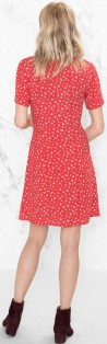 Mini Floral Print Dress i Red & Other Stories singel bak