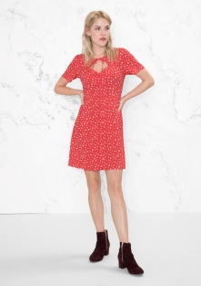 Mini Floral Print Dress i Red & Other Stories singel fram
