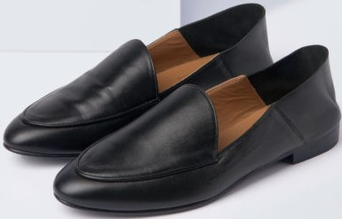 Olga Nappa Slip-in Loafer i Black Flattered