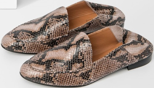 Olga Reptile Nappa Slip-in Loafer Flattered