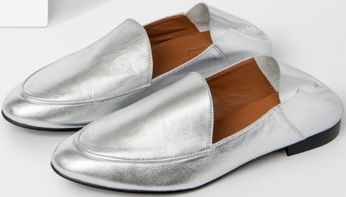 Olga Silver Nappa Slip-in Loafer Flattered