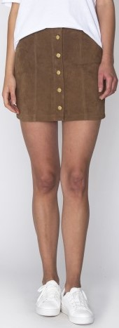 Soulmate Suede Skirt Dry Lake