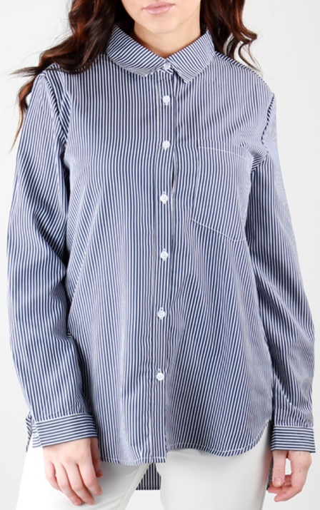 Stripe Shirt Dark Blue Stylelevel