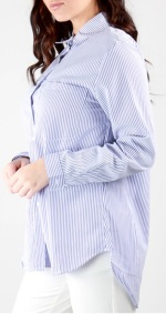 Stripe Shirt i Light Blue Stylelevel sida
