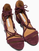 Suede Lace Up Sandalette i Burgundy & Other Stories ovan