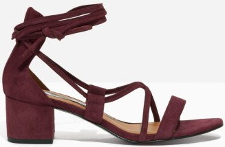 Suede Lace Up Sandalette i Burgundy & Other Stories