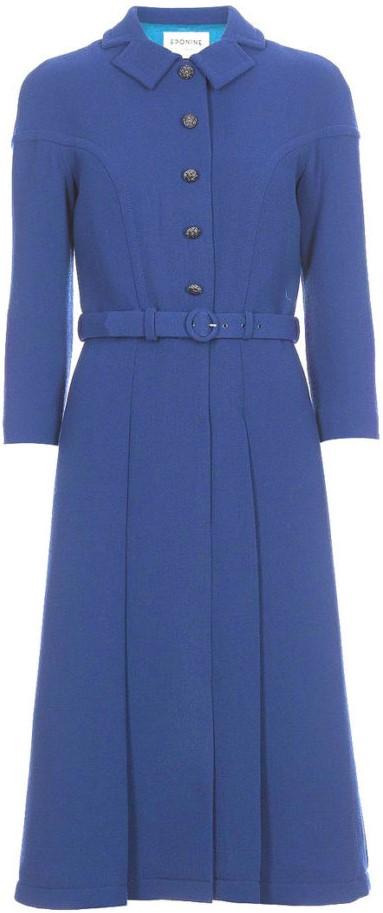 Belted Blue Coat Eponine London