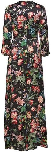 'Columbine' Maxi Dress i Black Blossom bak By Malina