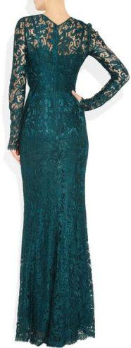 Floor Length Dress with Lace Overlay Dolce & Gabbana bak