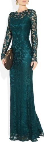 Floor Length Dress with Lace Overlay Dolce & Gabbana fram