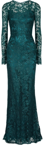 Floor Length Dress with Lace Overlay Dolce & Gabbana singel