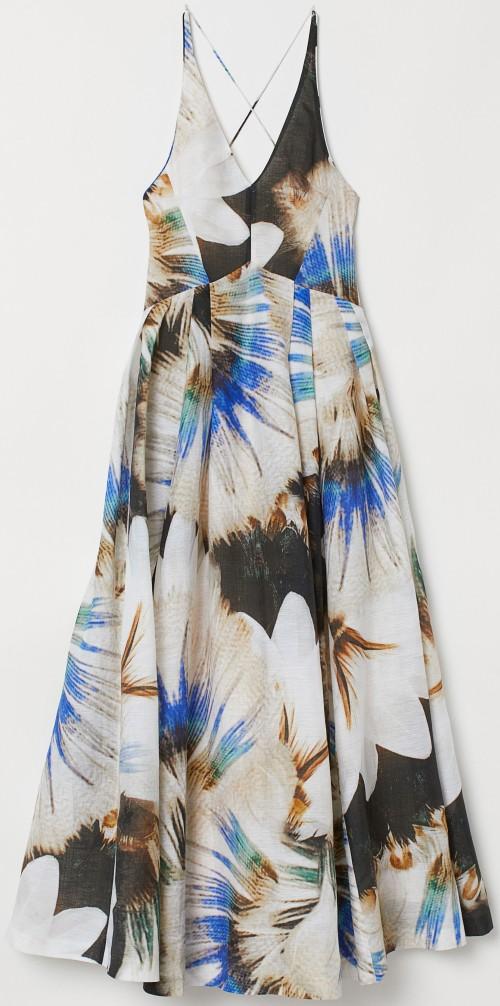 Klänning i sidenmix flerfärgad H&M Concious