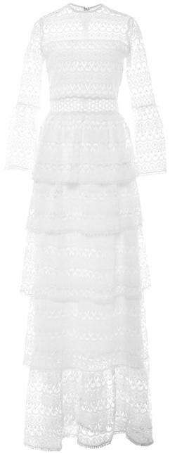Liliane Long Dressi White Embroidery Alexis