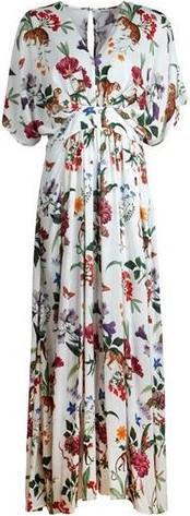 Long Floral Dress i White Stenströms