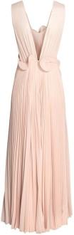 Plisserad långklänning i Puderbeige H&M Conscious Exclusive bak