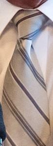 Grårandig slips