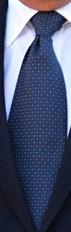 Marinblå småprickig slips